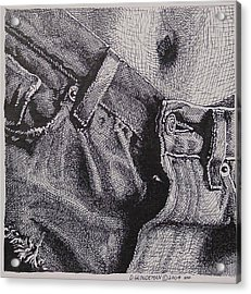 Denim Acrylic Print by Denis Gloudeman