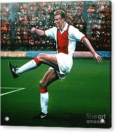 Dennis Bergkamp Ajax Acrylic Print by Paul Meijering