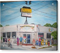 Dennis Pharmacy - No More Refills Acrylic Print