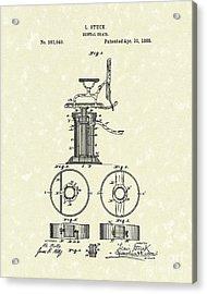 Dental Chair 1888 Patent Art Acrylic Print by Prior Art Design