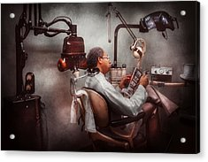 Dentist - Waiting For The Dentist Acrylic Print by Mike Savad