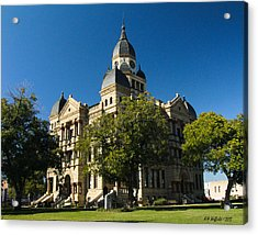 Denton County Courthouse Acrylic Print