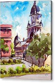 Denton County Courthouse Tx Acrylic Print by Ron Stephens