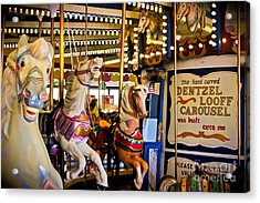 Dentzel Looff Antique Carousel  Acrylic Print by Colleen Kammerer