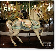 Acrylic Print featuring the photograph Dentzel Menagerie Carousel Horse by Rose Santuci-Sofranko