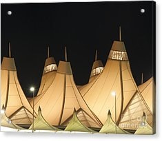 Denver Airport At Night Acrylic Print by Juli Scalzi