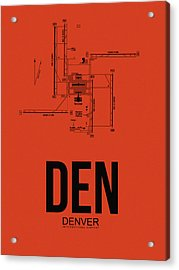 Denver Airport Poster 2 Acrylic Print by Naxart Studio