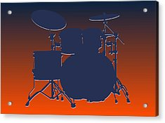 Denver Broncos Drum Set Acrylic Print