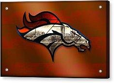 Denver Broncos With Skyline 2 Acrylic Print