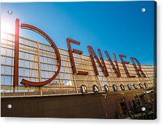 Denver Co Sign Acrylic Print by Steve Gadomski