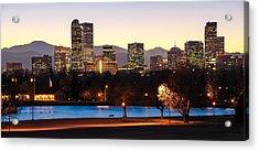 Denver Colorado Skyline From City Park Acrylic Print