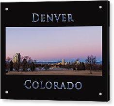 Denver Colorado Sunrise Acrylic Print