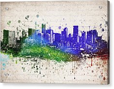Denver In Color Acrylic Print by Aged Pixel