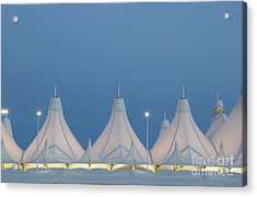 Denver International Airport At Dusk Acrylic Print by Juli Scalzi