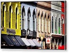 Denver Market Street Tilt Shift Acrylic Print by For Ninety One Days