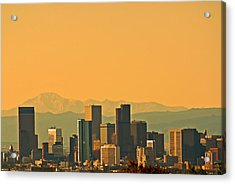 Denver Skyline Acrylic Print by Colleen Coccia