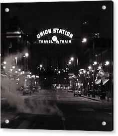 Denver Union Station Square Image Acrylic Print