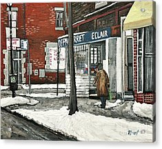 Depanneur Arret Acrylic Print by Reb Frost