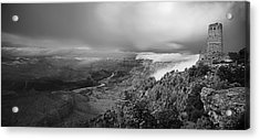 Departing Storm Grand Canyon At Desert View Acrylic Print