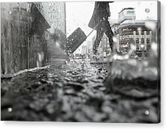 Departure On A Rainy Day Acrylic Print