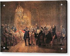 depicting a flute concert of Frederick the Great Acrylic Print