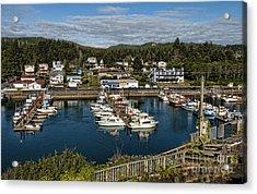 Depoe Bay Oregon Harbor Acrylic Print by Bill Bachmann