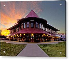 Depot Sunset Acrylic Print