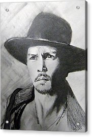 Acrylic Print featuring the drawing Depp by Lori Ippolito