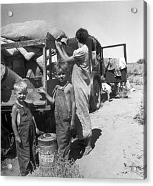 Depression Refugees Acrylic Print by Underwood Archives