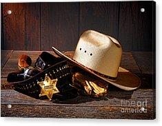 Deputy Sheriff Gear  Acrylic Print by Olivier Le Queinec