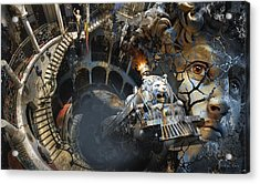 Derailment Or Train Of Thought Acrylic Print by George Grie