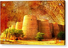Derawar Fort Acrylic Print by Catf