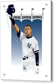 Derek Jeter 3000 Hits Acrylic Print by Scott Weigner