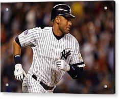 Derek Jeter New York Yankees Acrylic Print by Retro Images Archive