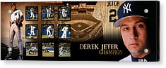 Derek Jeter Panoramic Art Acrylic Print