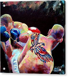 Acrylic Print featuring the painting Derek Panza by Robert Phelps