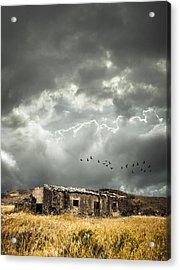 Derelict Rural Building Acrylic Print by Amanda Elwell