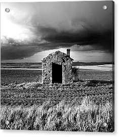 Derelict Stone Shed In  Auvergne. France Acrylic Print