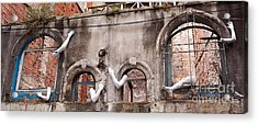 Derelict Wall Of Lost Limbs 02 Acrylic Print by Rick Piper Photography