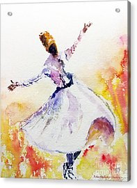 Sufi  Or Dervish Dancer Acrylic Print