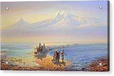 Descent Of Noah From Mountain Ararat Acrylic Print by Meruzhan Khachatryan