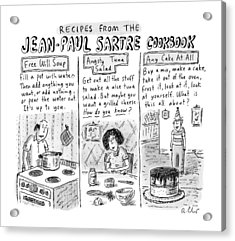 Descriptions Of Jean-paul Sartre Cookbook Recipes Acrylic Print