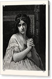 Desdemona. After Cabanal. Desdemona Is A Character Acrylic Print
