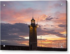 Desenzano Del Garda The Old Harbor Lighthouse Acrylic Print by Kiril Stanchev