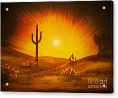 Desert Aglow Acrylic Print by Becky Lupe