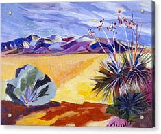 Desert And Mountains Acrylic Print by Betty Pieper