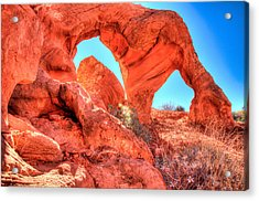 Desert Arch And Sky Acrylic Print by Laura Palmer