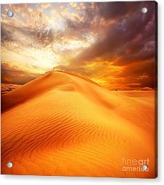 Acrylic Print featuring the photograph Desert Art by Boon Mee