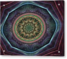 Acrylic Print featuring the digital art Desert Blossom by Linda Whiteside
