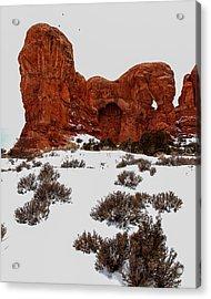 Desert Butte Acrylic Print by John McArthur